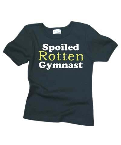 Spoiled Rotten Gymnast Tee FREE SHIPPING