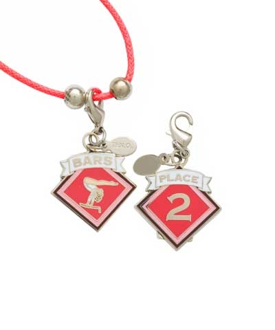 2nd Place Bars Charm & Cord Necklace