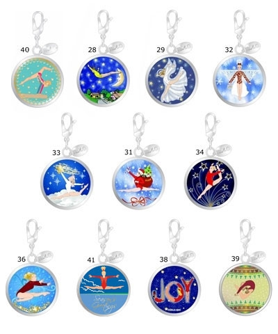Christmas Ball Retro Charms (Set of 11)
