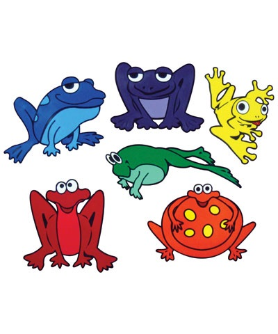 Poly Pad Frogs Assorted Colors (Set of 6) FREE SHIPPING