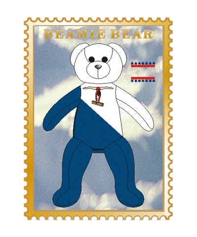 Level 6 Beamie Bear Pin