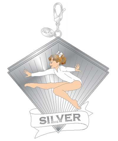 Xcel Silver Leap Gym Charm