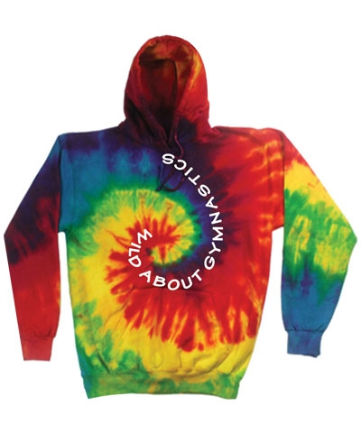Youth Wild About Gymnastics Hoody-Kaleidoscope