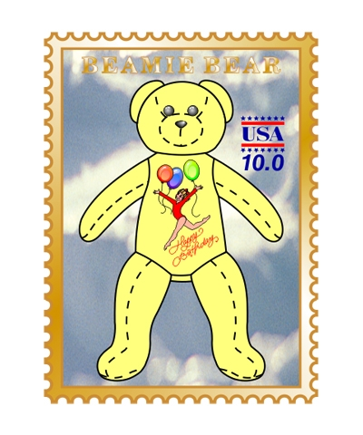 """Happy Birthday"" Beamie Bear Pin"