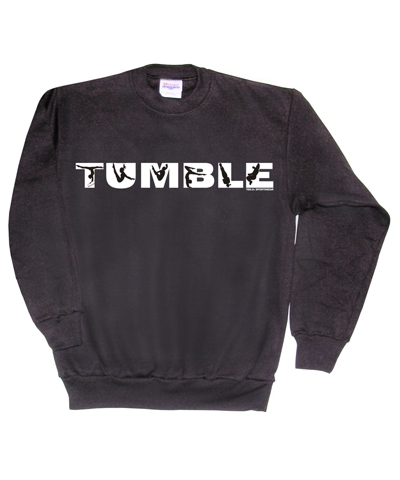 Black Tumble Sweatshirt FREE SHIPPING