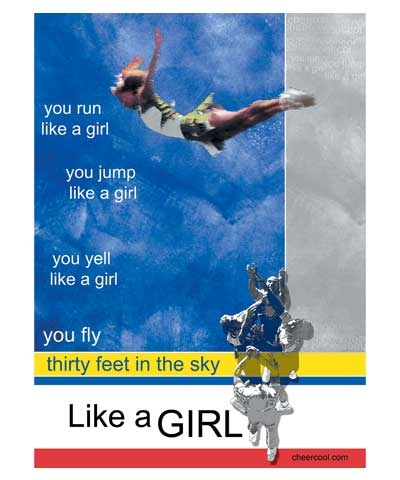 """8.5""""x12"""" Cheer Like A Girl Poster FREE SHIPPING"""
