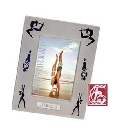 Engraved Gymnastics Silhouette Frame