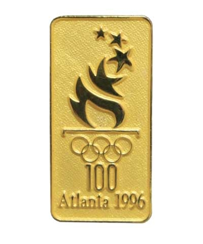 Olympic 1996 Gold Vertical Torch