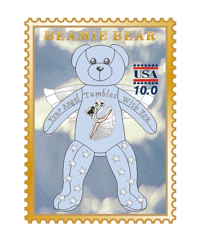 Angel Beamie Bear Pin