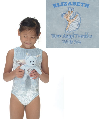 Personalized Baby Blue Angel Panne Leo