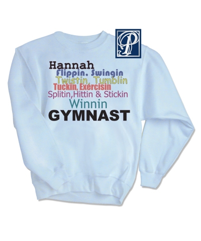 Personalized Winnin Gymnast Sweatshirt FREE SHIPPING