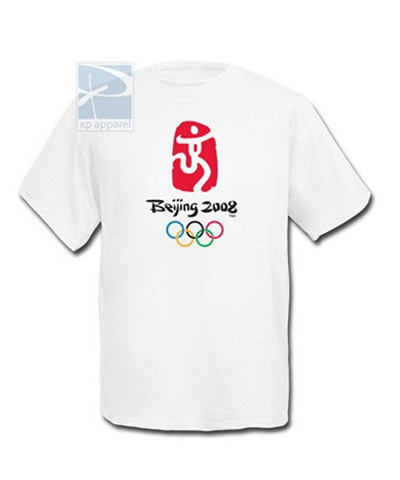 Beijing 2008 Olympic Tee FREE SHIPPING