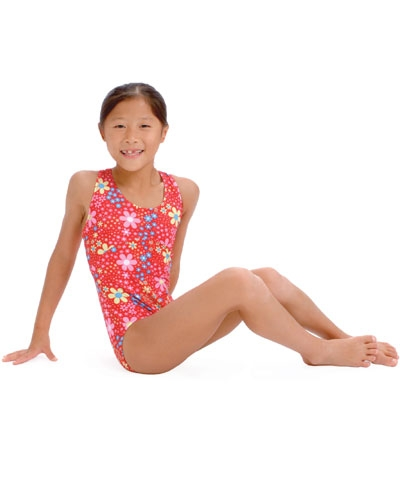 Gymnastics Girl Flowered Leo
