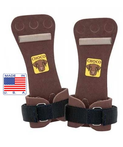 Men's Choco Velcro Hi Bar Dowel Grips FREE SHIPPING