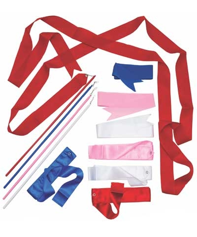"13' Recreation Rhythmic Ribbon & 20"" Stick Set FREE SHIPPING"