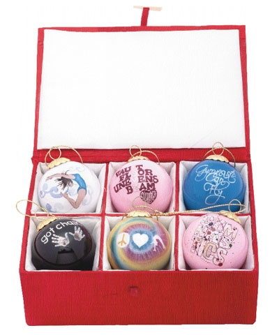 Favorite TEN-O Designs Mini Christmas Balls Set of 6