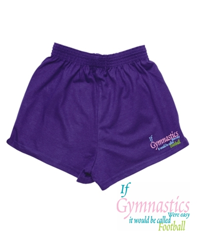 Grape Gym Football Shorts