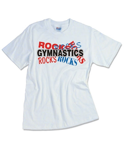 Gymnastics Rocks Tee FREE SHIPPING