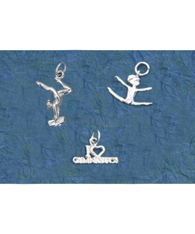 Sterling Silver Gymnastics Charm