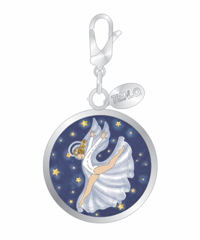 Your Angel Tumbles With You Ball Charm