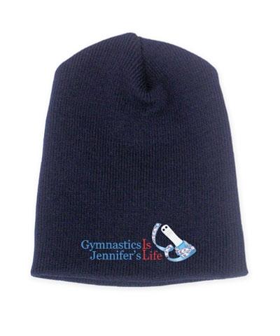 Personalized Gymnastics Is Life Navy Beanie