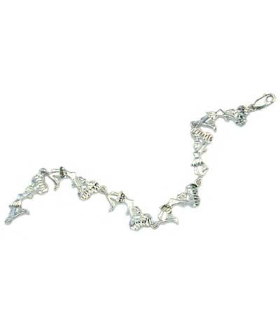Sterling Silver Cheer Jump Bracelet